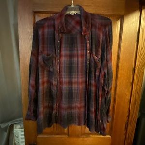 Maurices Brand Flannel Tunic Length Plus Size 3